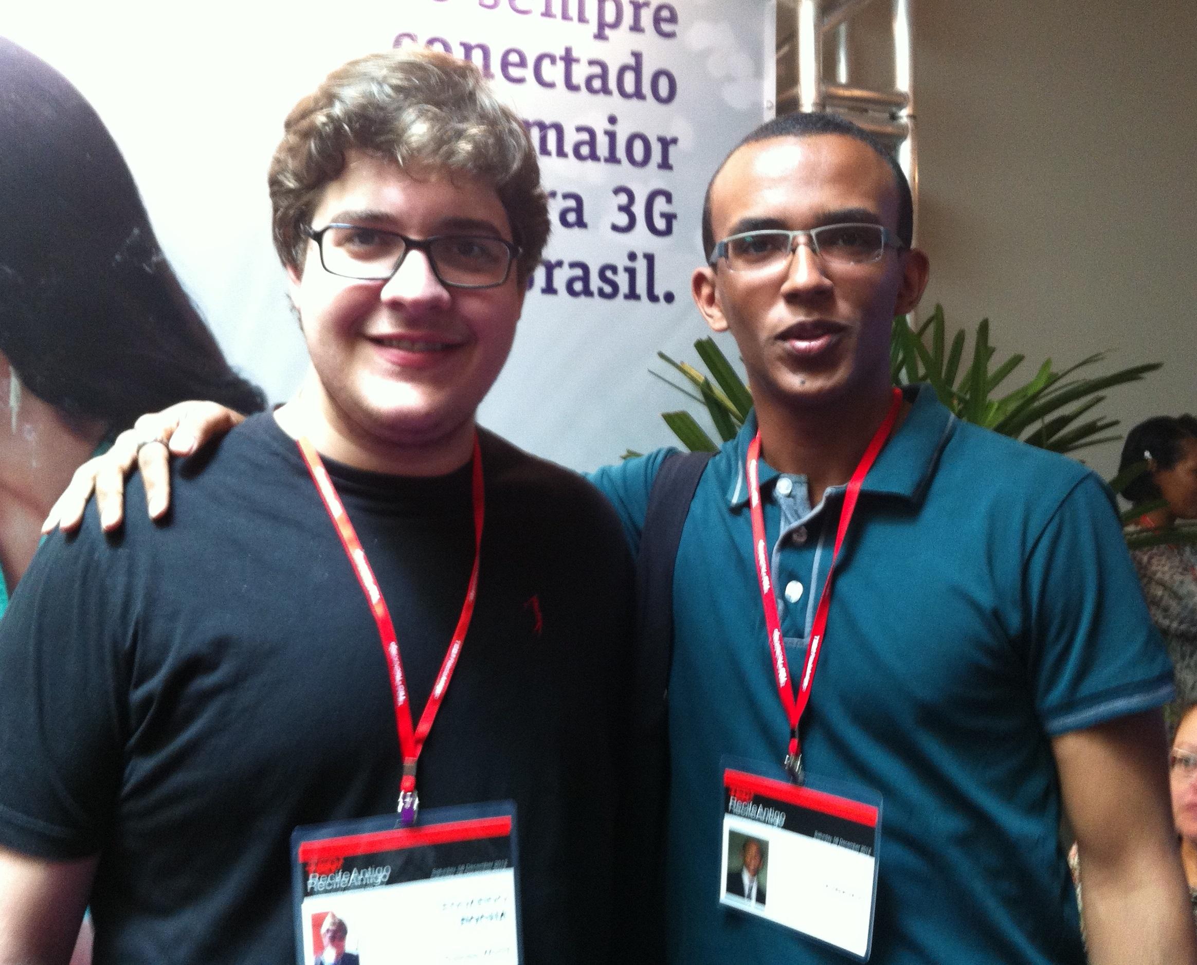 Eduardo e Paulo no evento TEDxRecifeAntigo