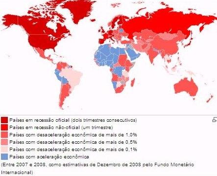 Mapa da crise 2008